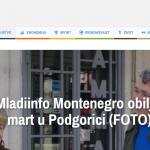 NVO Mladiinfo Montenegro obilježila je danas u Podgorici Međunarodni dan žena 8. mart.