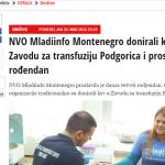 NVO Mladiinfo Montenegro donirali krv u Zavodu za transfuziju Podgorica i proslavili rođendan