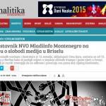 Predstavnik NVO Mladiinfo Montenegro na skupu o slobodi medija u Briselu