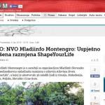 FOTO: NVO Mladiinfo Montengro: Uspješno završena razmjena ShapeYourLife