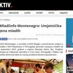 NVO Mladiinfo Montenegro: Umjetnička razmjena mladih