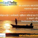 """M!M radionica """"Migracije i azilanti, njihov uticaj na Crnu Goru"""""""