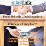 """Učestvujte na panel diskusiji """"Izvještavanje o korupciji u CG"""""""
