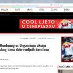 NVO Mladiinfo Montenegro: Organizuju akciju povodom Svjetskog dana dobrovoljnih davalaca krvi, Kolektiv, 12.06.2017. godine